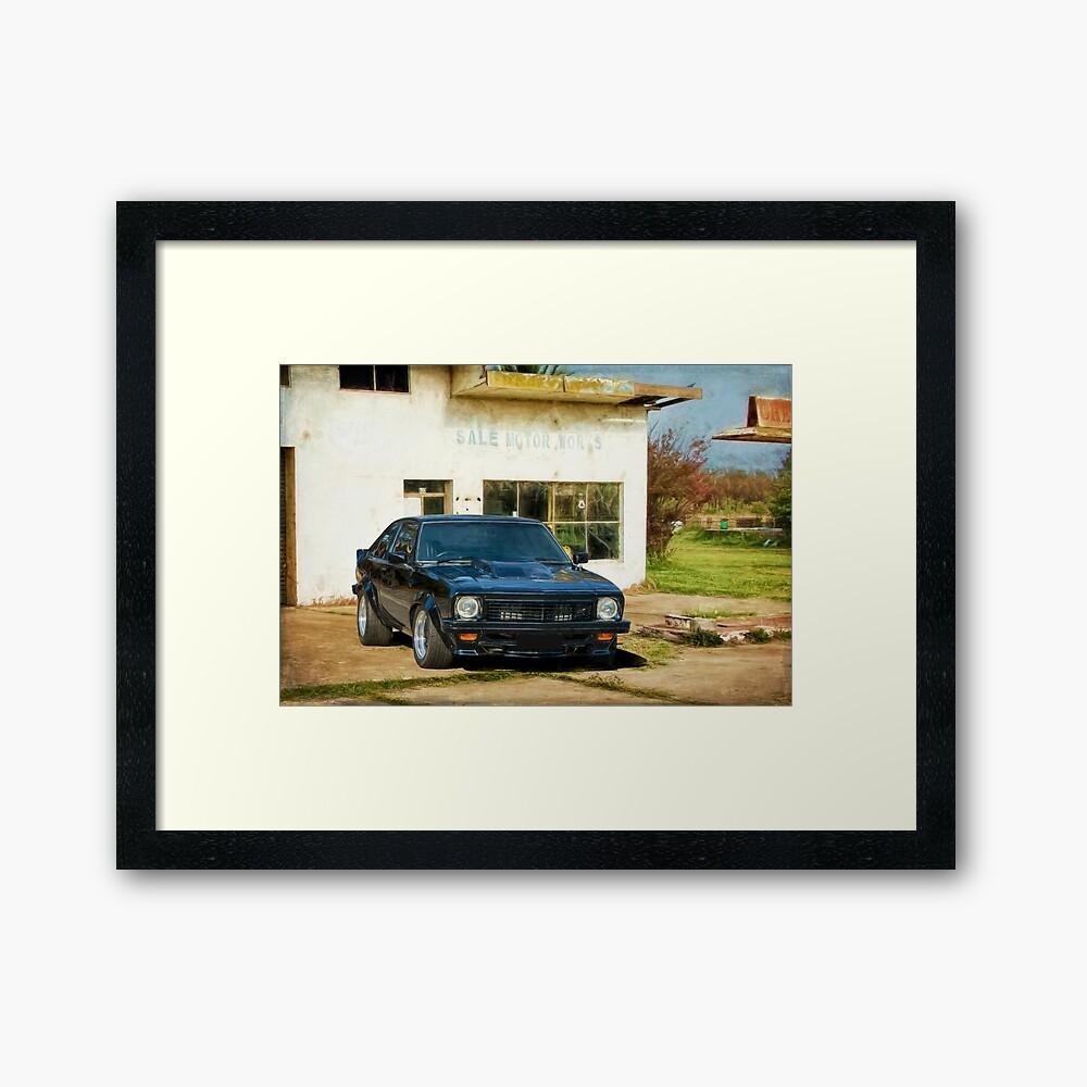 Black SS Torana Hatchback Framed Art Print