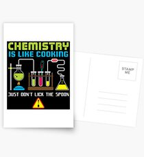 Chemistry Is Like Cooking - Funny Chemistry Quote Gift Postkarten