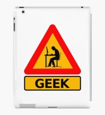 Vinilo o funda para iPad Advertencia Geek
