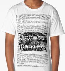 Access Denied text stamp design Long T-Shirt