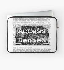 Access Denied text stamp design Laptop Sleeve