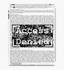 Access Denied text stamp design iPad Case/Skin