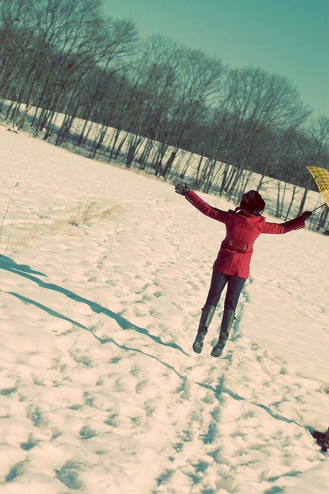 {umbrella in the snow} by meg4m