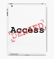 Access Denies red stamp design iPad Case/Skin