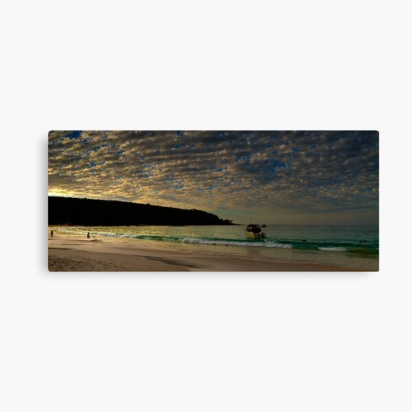 Evening Ski Canvas Print