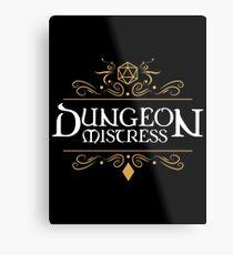Lámina metálica Dungeon Mistress - Game Master Tabletop RPG Gaming