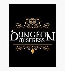 Lámina fotográfica Dungeon Mistress - Game Master Tabletop RPG Gaming