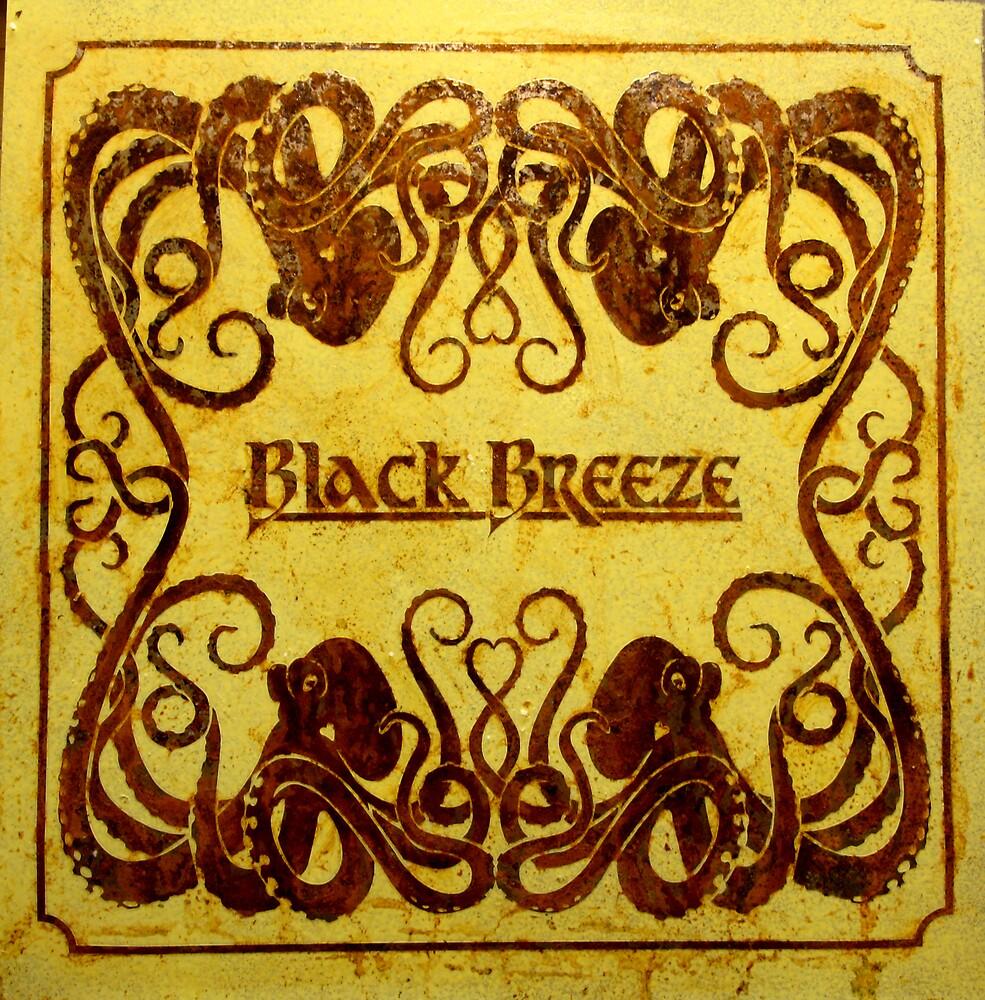 'Black Breeze' Octopuss Stencil on steel by rickdickinson