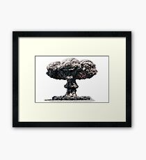 Clown Head Nuclear Mushroom Cloud Framed Print