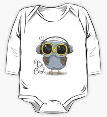 Cute Owl with sun glasses One Piece - Long Sleeve