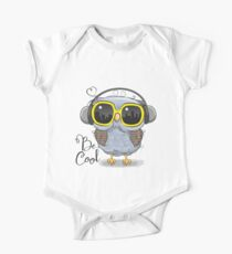 Cute Owl with sun glasses One Piece - Short Sleeve