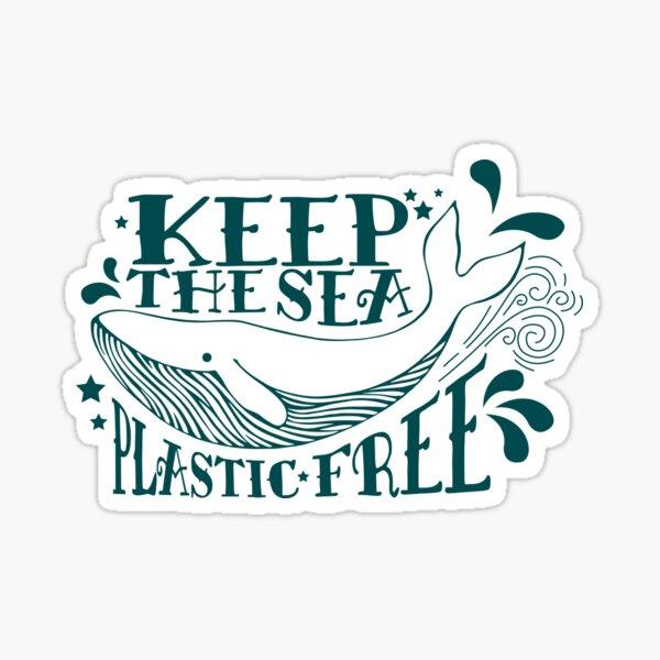 Keep The Sea Plastic Free Whale Sticker