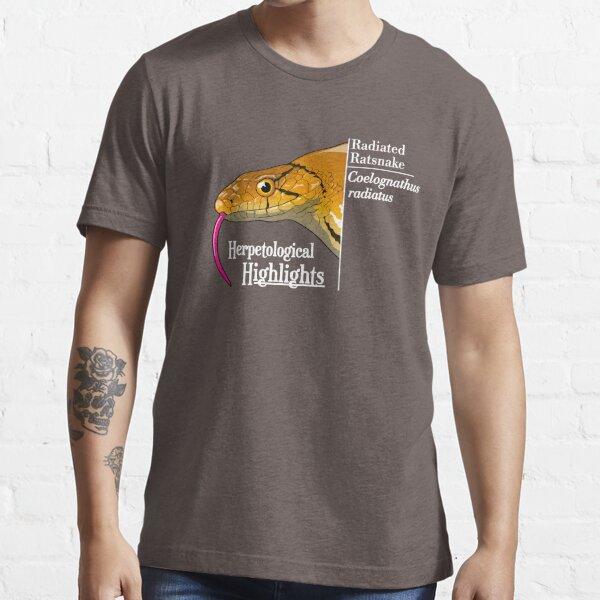 Radiated ratsnake - Coelognathus radiatus   Alternative white Essential T-Shirt