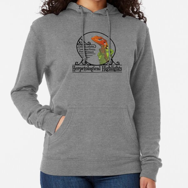 Calotes calotes – Common Green Forest Lizard Lightweight Hoodie
