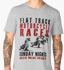 Flat Track Motorcycle Races Men's Premium T-Shirt