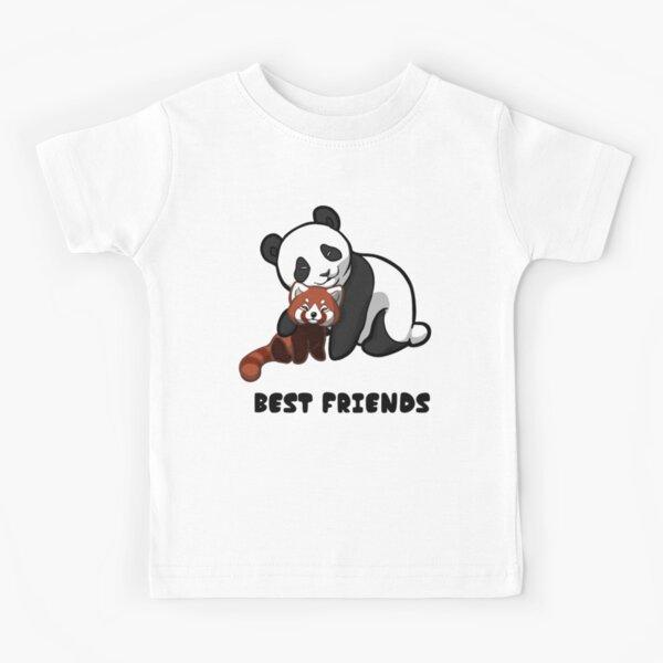 Panda meilleurs amis T-shirt enfant