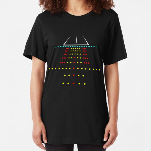 Runway Landing Strip At Night - Funny Aviation Quotes Gift Slim Fit T-Shirt