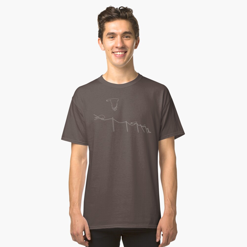 Birds on wire Classic T-Shirt Front