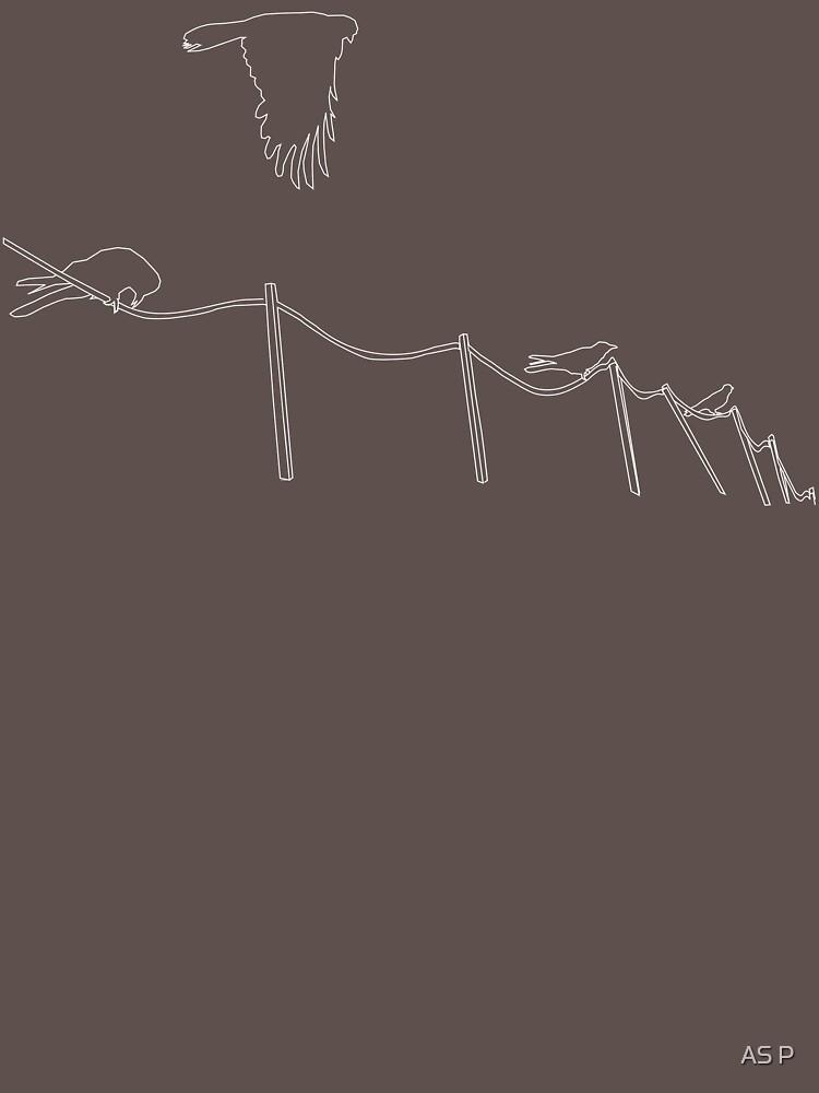 Birds on wire by sasufi