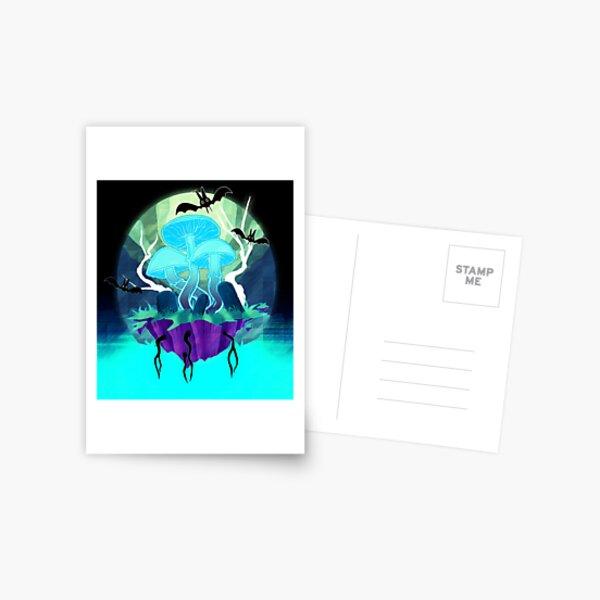 Ghost Shrooms Postcard