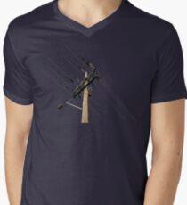 electrical pole colour version Mens V-Neck T-Shirt