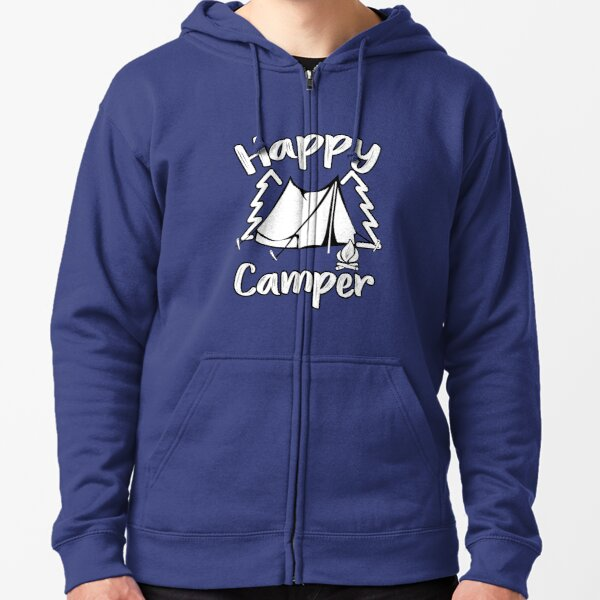 Happy Camper Happy Camping Family Zipped Hoodie