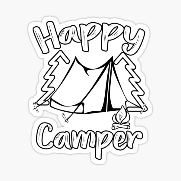 Happy Camper Happy Camping Family Sticker