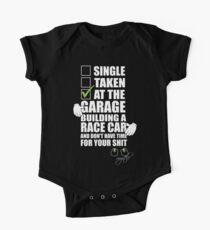 at the Garage building a Race Car One Piece - Short Sleeve