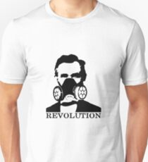 Revolution - Abraham Lincoln Gask Mask Unisex T-Shirt
