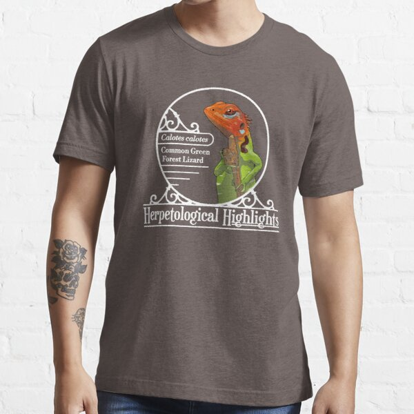 Calotes calotes - Common green forest lizard   White Essential T-Shirt