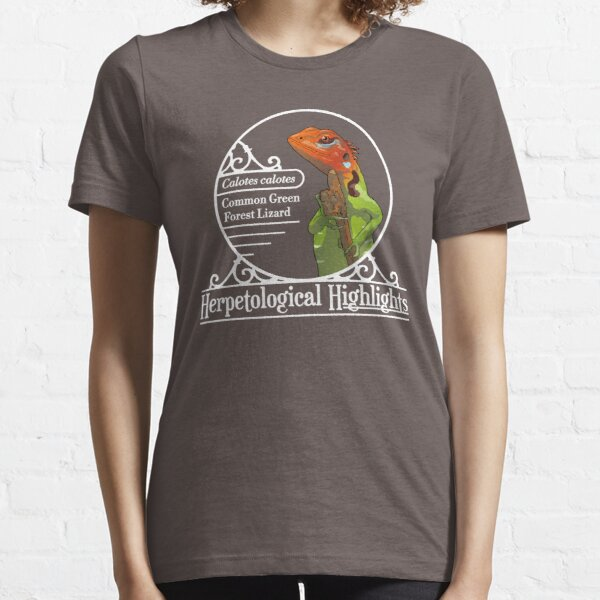 Calotes calotes - Common green forest lizard | White Essential T-Shirt