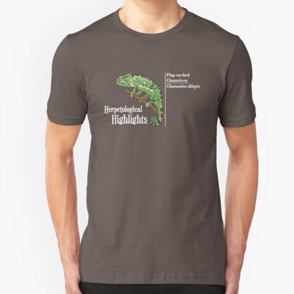 Flap-necked chameleon - Chamaeleo dilepis | Alternative white Slim Fit T-Shirt