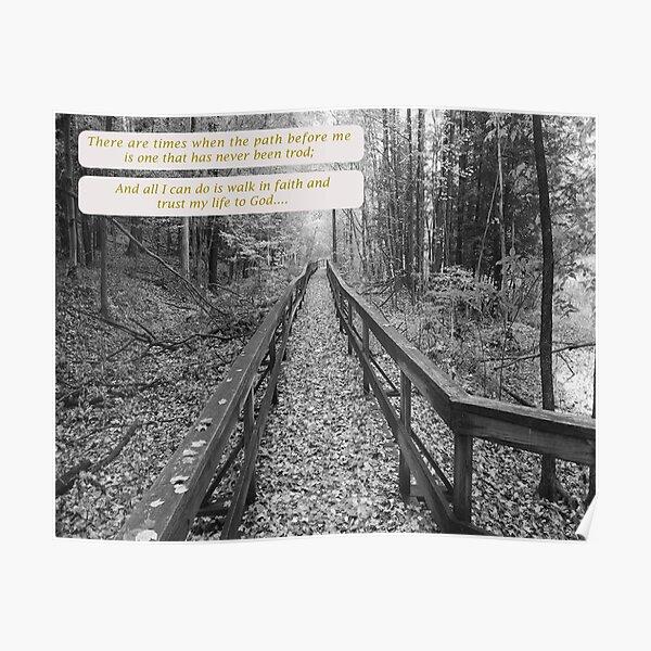 "Believe - ""Walk in Faith"" Poster"