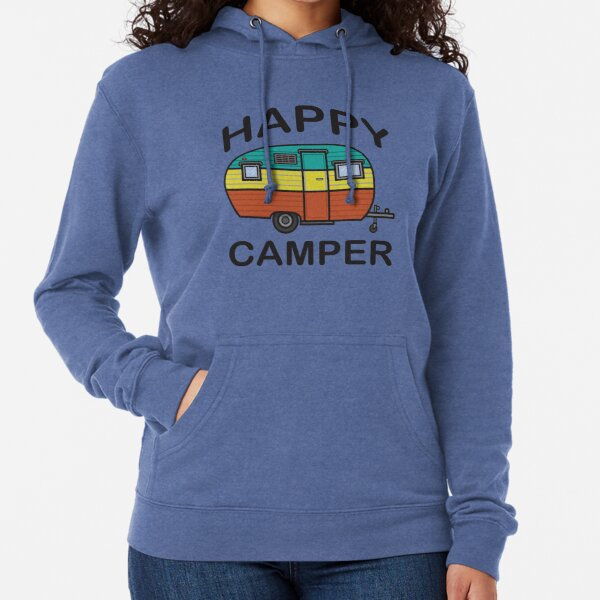 Fun Happy Camper Family Camping Lightweight Hoodie