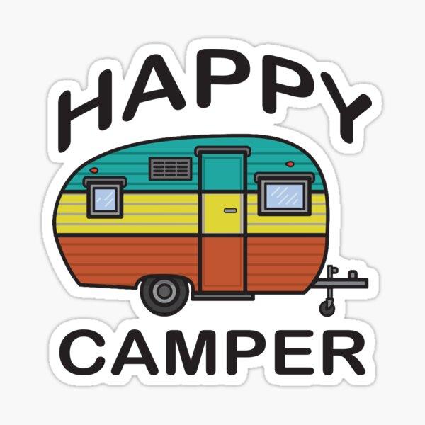 Fun Happy Camper Family Camping Sticker