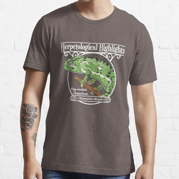 Flap-necked chameleon - Chamaeleo dilepis   White Essential T-Shirt