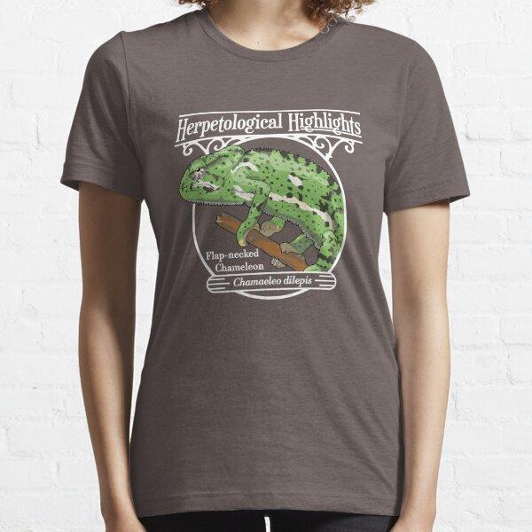Flap-necked chameleon - Chamaeleo dilepis | White Essential T-Shirt