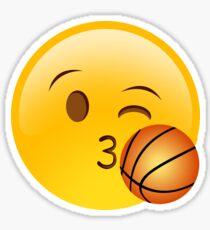 Emoji Kiss Basketball Sticker