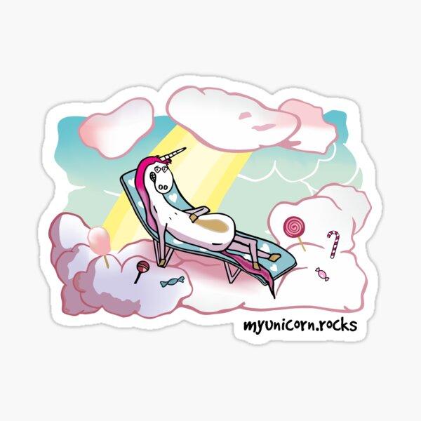 Einhorn auf Wolken Sticker