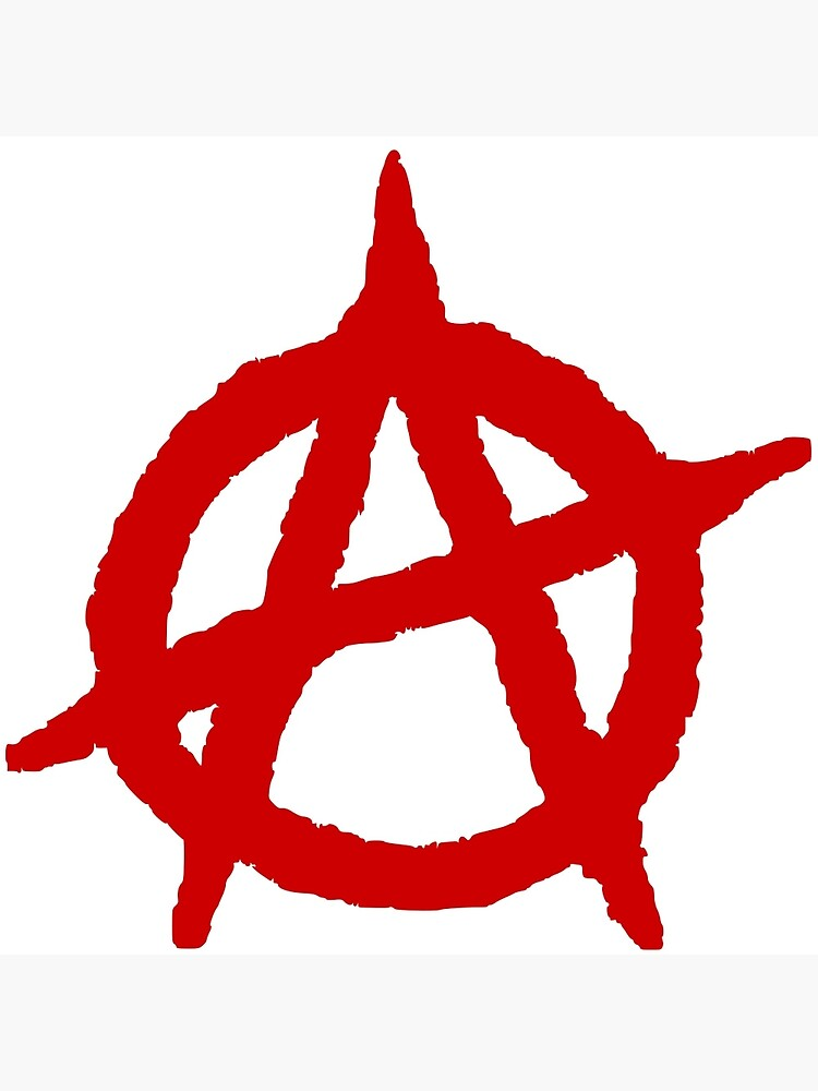 "Anarchism Symbol Anarchist Red"" Greeting Card by BenjiKing 