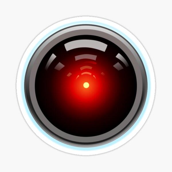 Artificial Intelligence. HAL 9000. AI. Computer Eye. Sticker