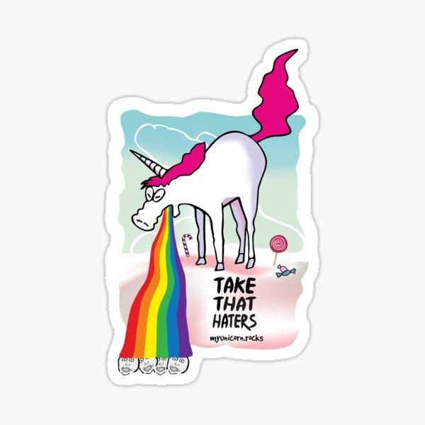 Einhorn kotzt Regenbogen Sticker