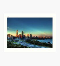 Perth HDR Art Print