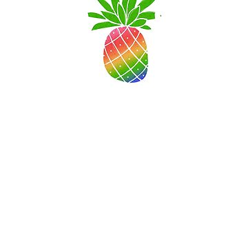 I Love Summer Rainbow Pineapple Colorful Sweet by creative321