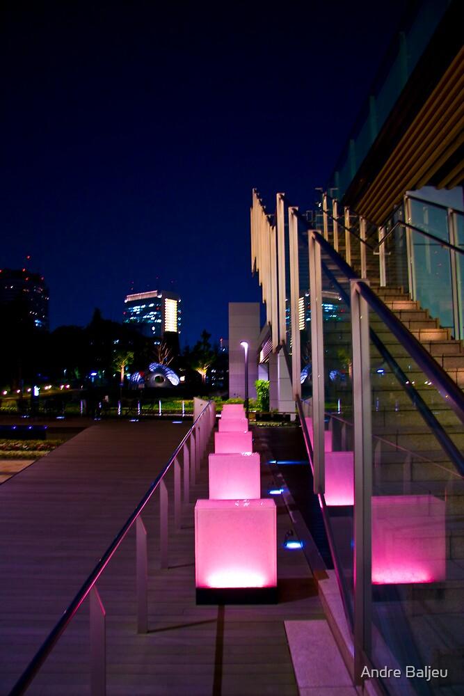 pink tokyo night by Andre Baljeu