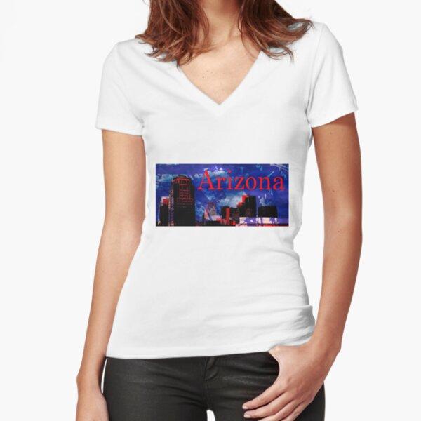 Arizona Proud - Phoenix Skyline Fitted V-Neck T-Shirt