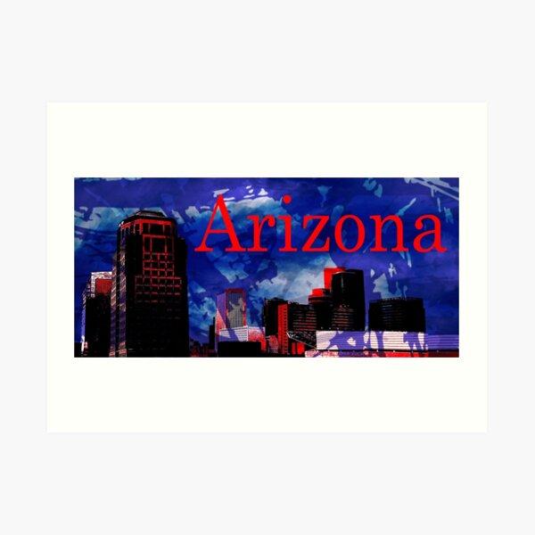 Arizona Proud - Phoenix Skyline Art Print