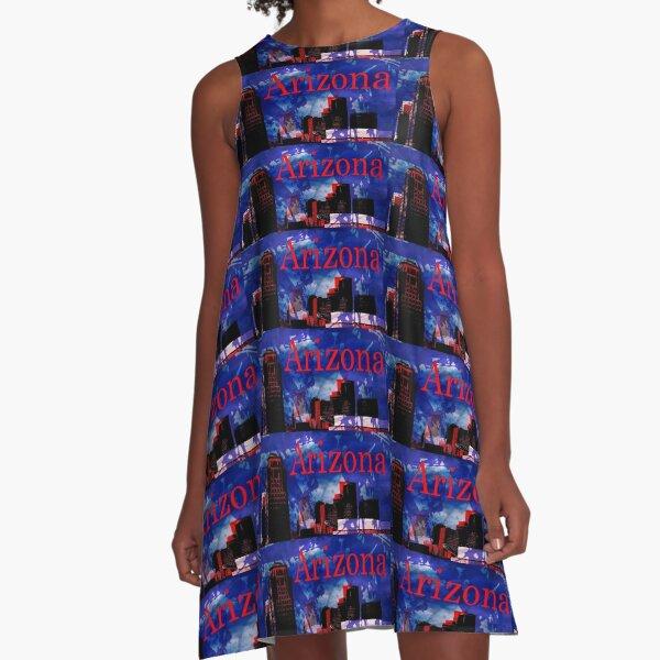 Arizona Proud - Phoenix Skyline A-Line Dress