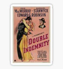 Double Indemnity - Film Noir Art Sticker