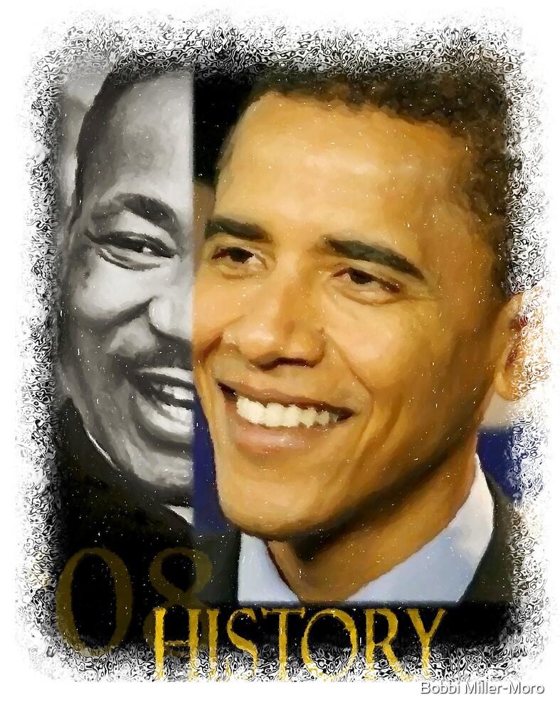 Barack Obama & MLK by Bobbi Miller-Moro